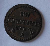 Francie 1 Centim rok 6 stav