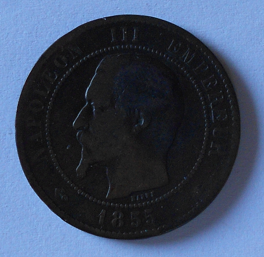 Francie 10 Cent 1855 Napoleon III.
