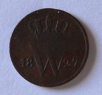 Holandsko 1 Cent 1827