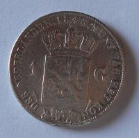 Holandsko 1 Gulden 1848 Vilém II. Měl ouško