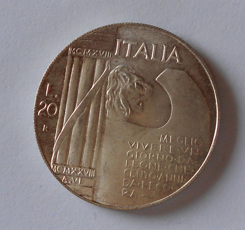 Itálie 200 Lira Mussolini, kopie