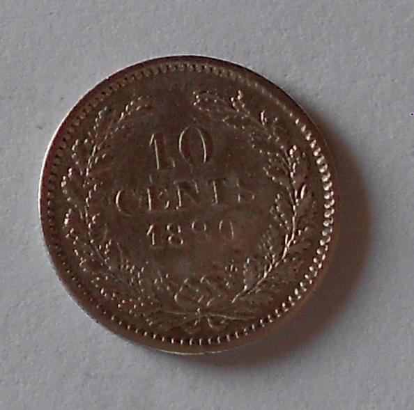 Nizozemí 10 Cent 1890