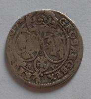 Polsko Groš 1664 Jan Kazimír