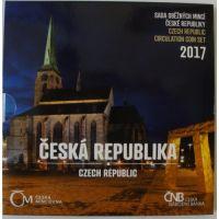 Ročníková sada oběžných mincí ČR (2017-Česká republika), stavy 0/0