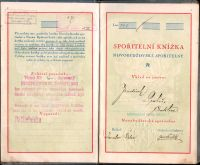 Spořitelní knížka Novobydžovské spořitelny (1923)