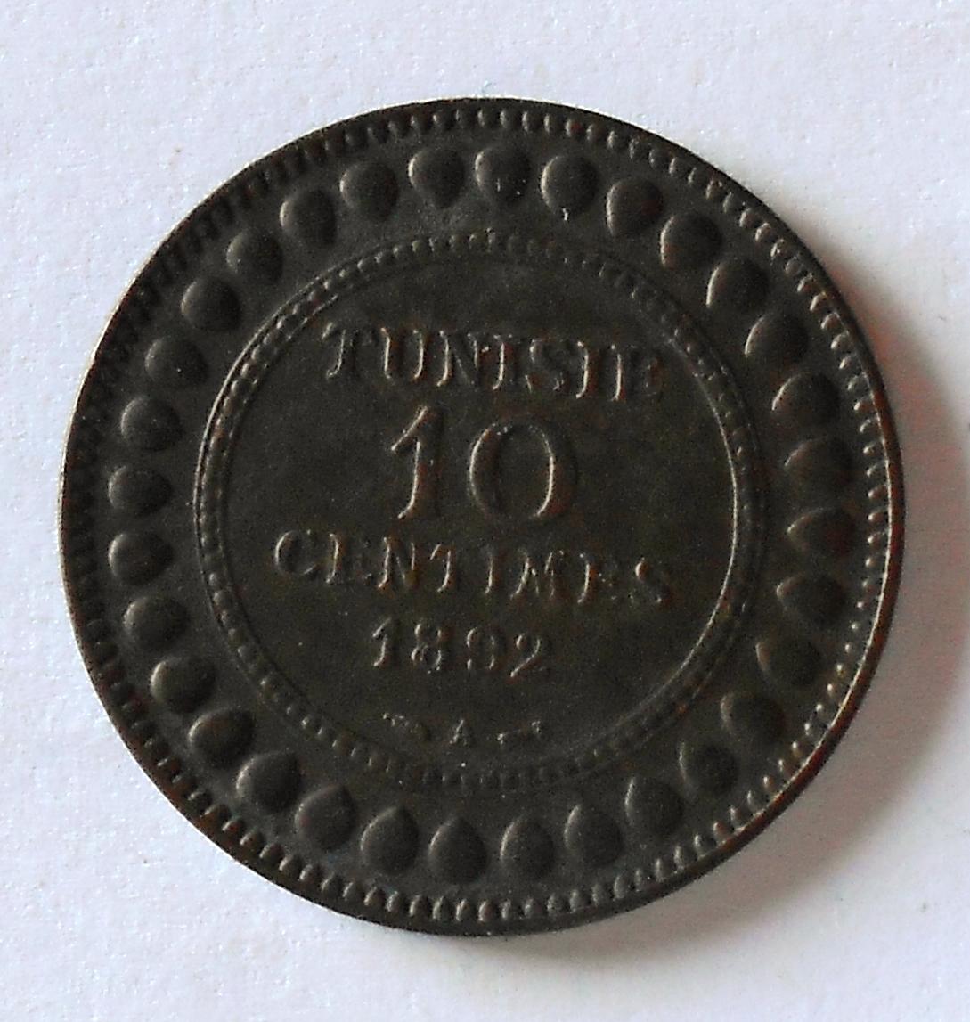 Tunis 10 Cent 1892