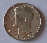 USA 1/2 Dolar 1968