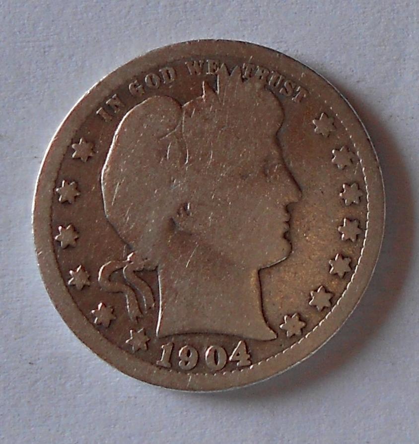 USA 1/4 Dolar 1904