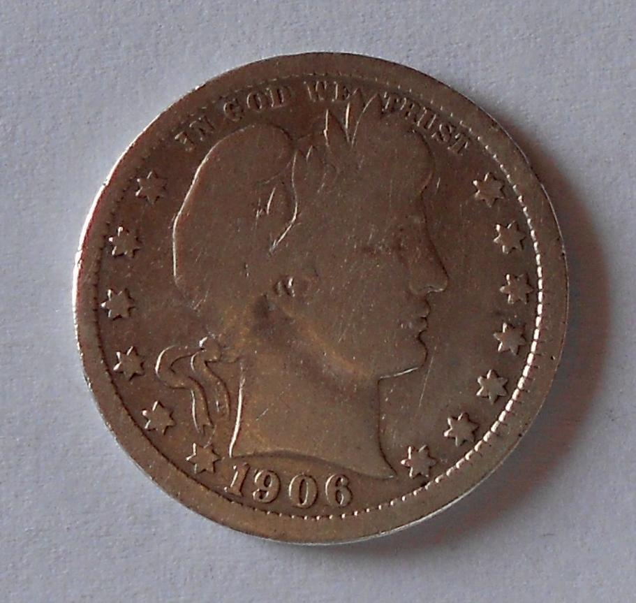 USA 1/4 Dolar 1906