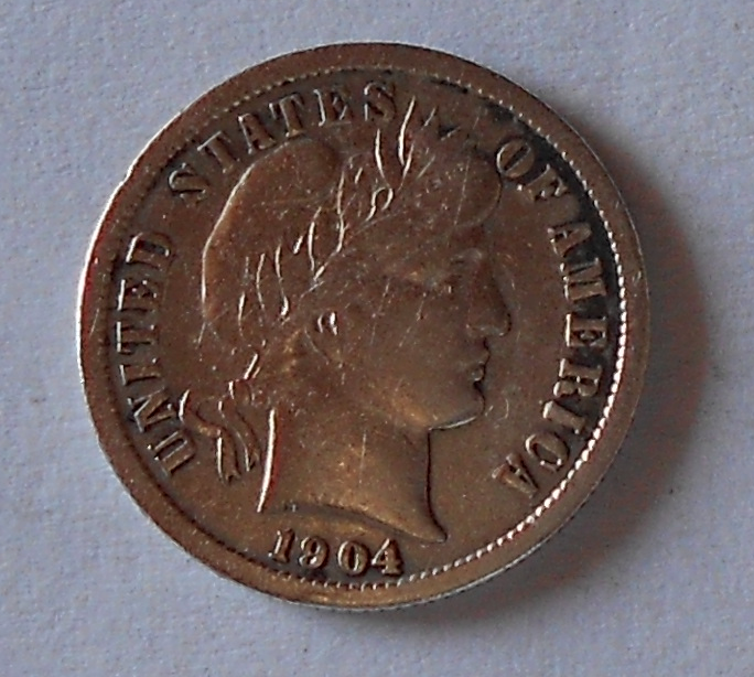 USA 1 Dime 1904