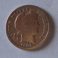 USA 1 Dime 1905