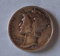 USA 1 Dime 1940