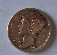 USA 1 Dime 1941