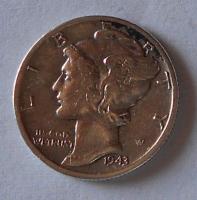 USA 1 Dime 1943