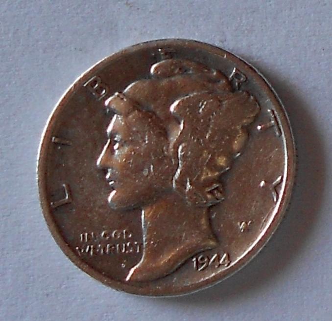 USA 1 Dime 1944