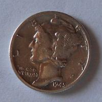 USA 1 Dime 1945