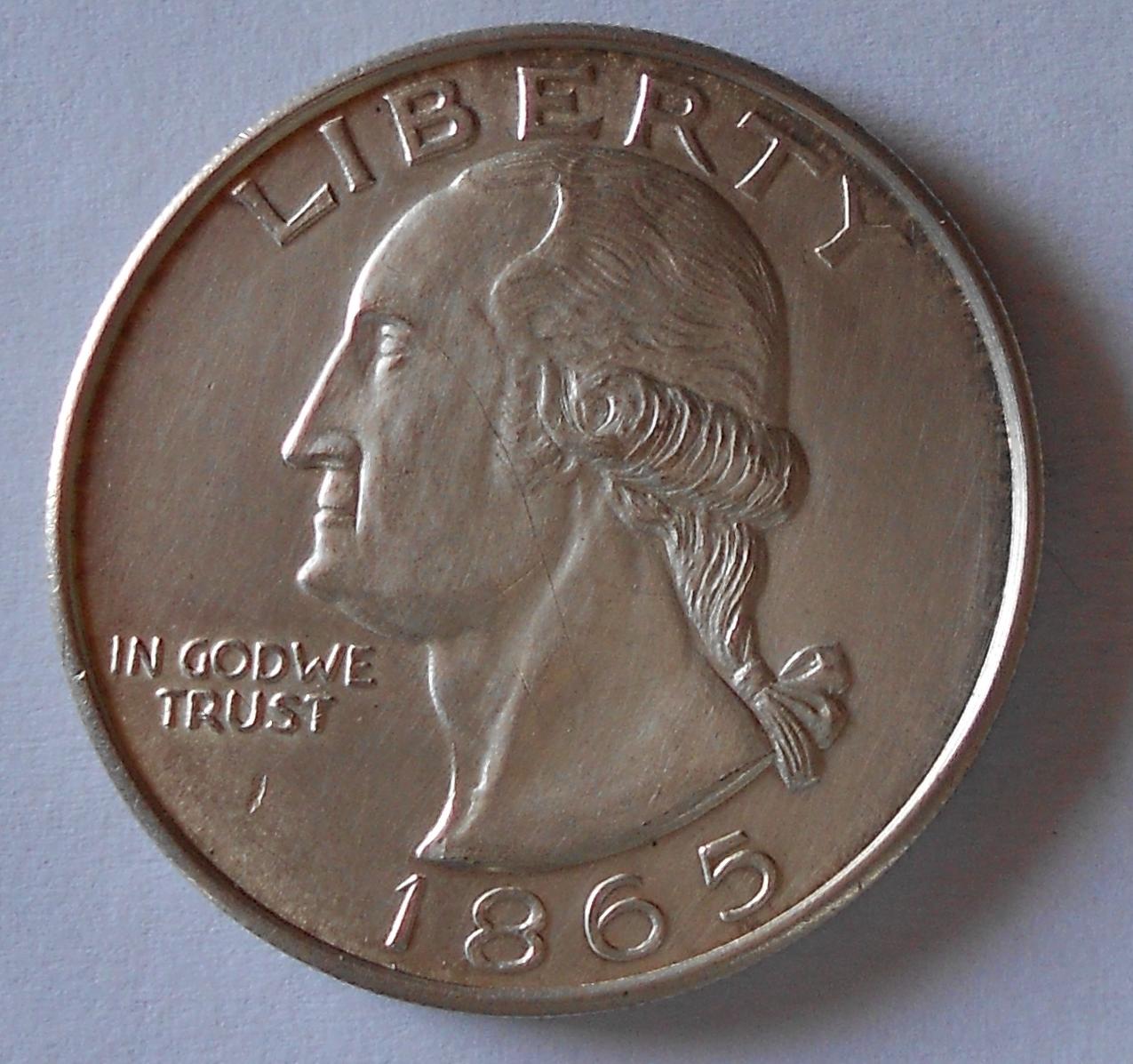 USA 1 Dolar 1865 kopie