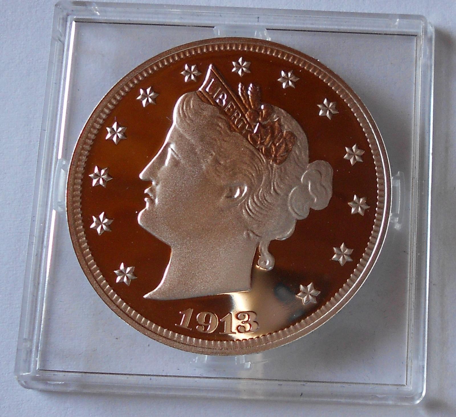 USA 5 Cent 1913 Ag novoražba, pr 38mm