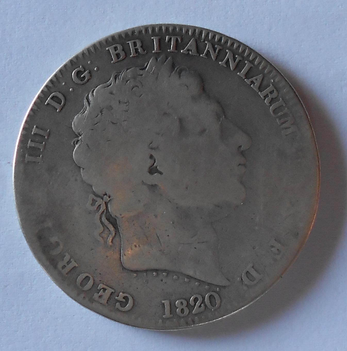 V. Británie 1 Crown 1820 Jiří III.