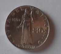 Vatikán 10 Lira 1951