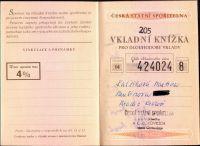 Vkladní knížka 4%, Česká spořitelna ČSSR (1986)