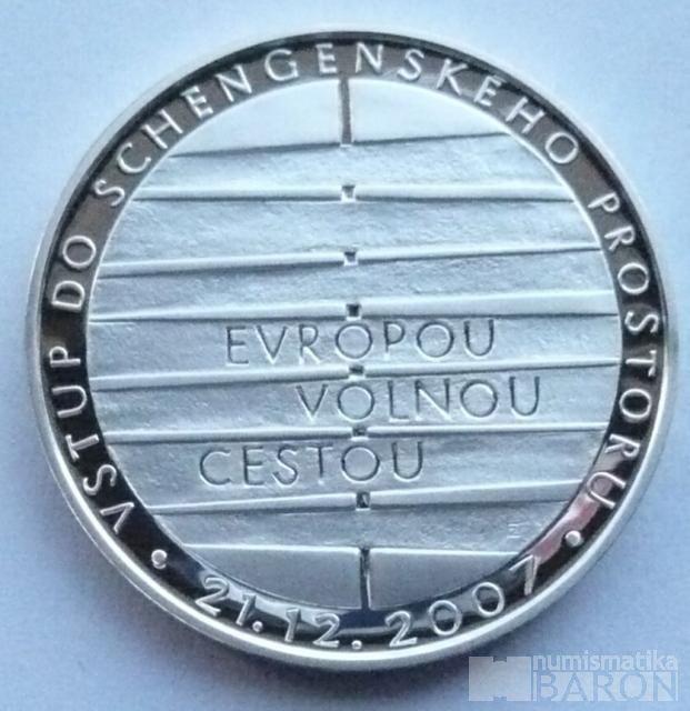 200 Kč(2008-Schengen), stav PROOF, etue a certifikát