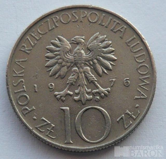 Polsko 10 Zl. Adam Mockiewicz 1976