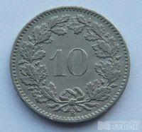 Švýcarsko 10 Rappen 1881