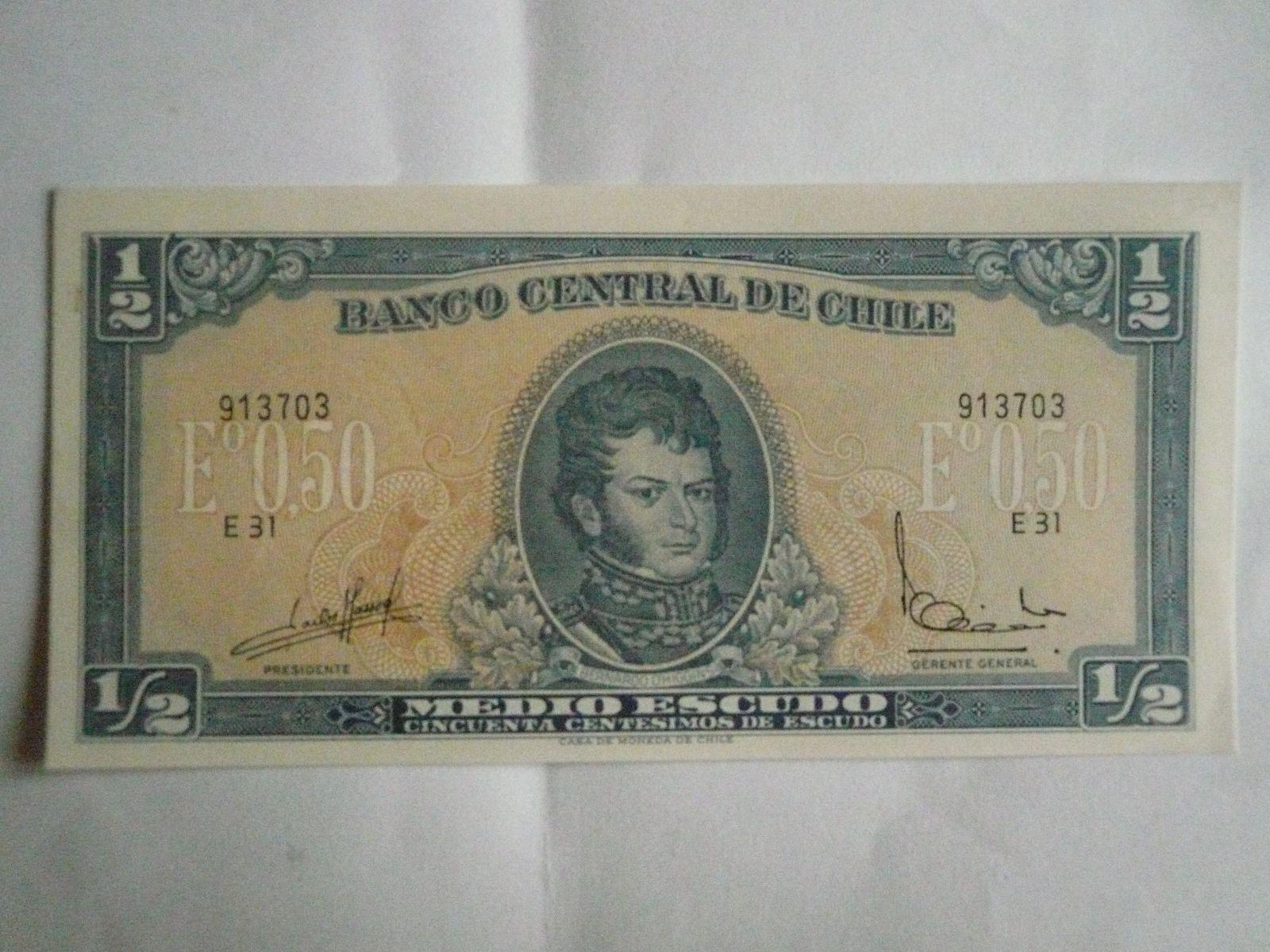 1/2 Escudo, Chile, Bernardo Higgins