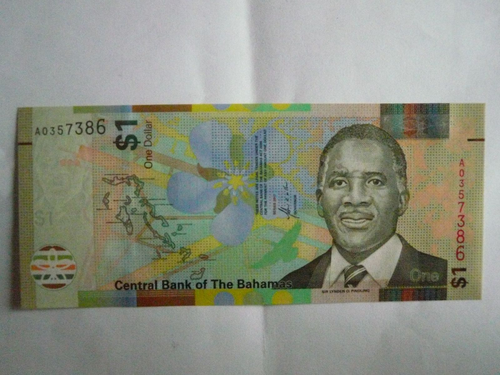 1 Dollar, Bahamy,, 2017