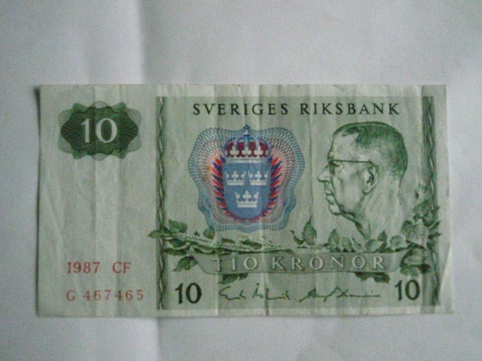 10 Krone, Švédsko, 1987
