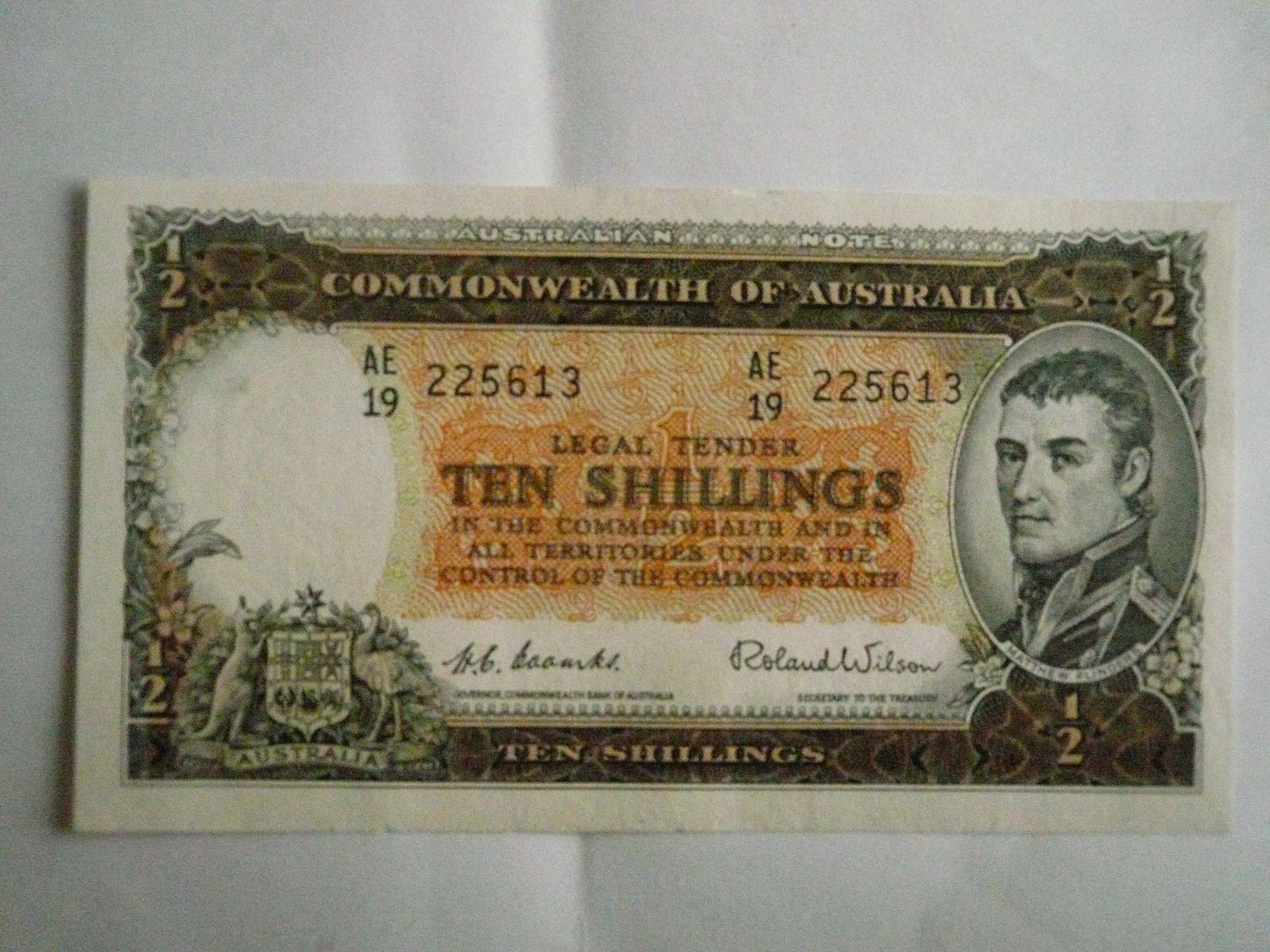 10 Schilling, Austrálie, 1954