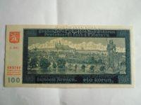 100 Kč, S.20G-perforovaná, II.vyd., P.Č+M, 1940