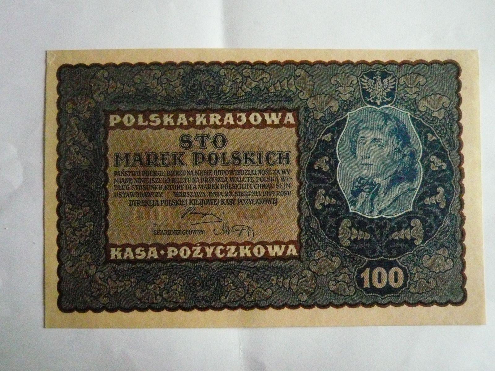 100 Marek, Polsko, 1919