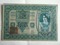 1000 Kč, kolek, ČSR, 1902
