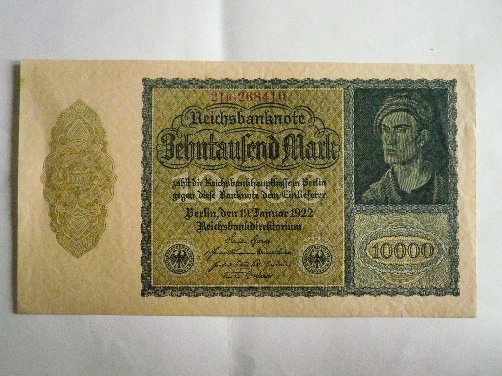 10000 Marek, Německo, 1922