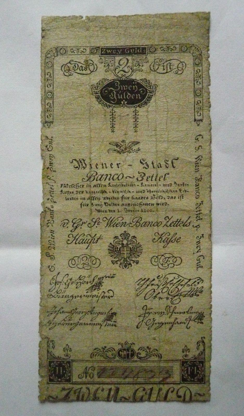 2 Gulden, Rakousko, 1800