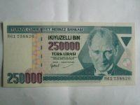 250000 Lir, Turecko, 1970