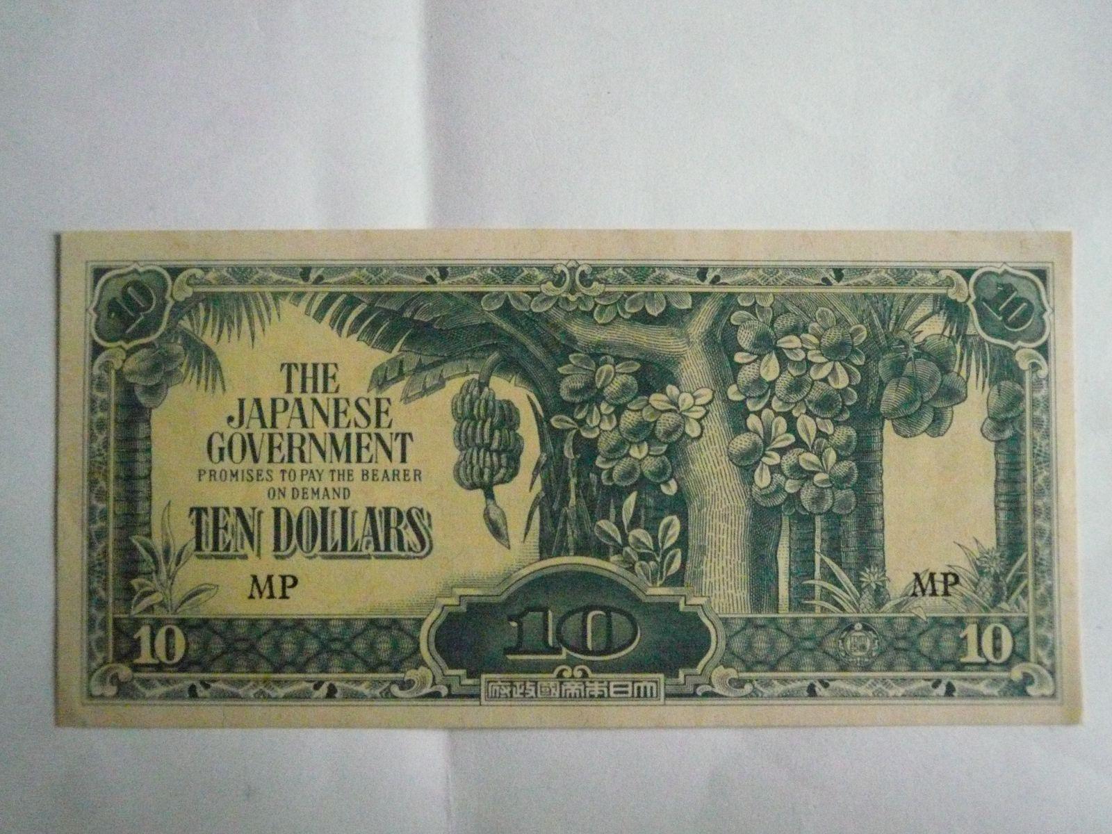 10 Dollars, okupace Japonska
