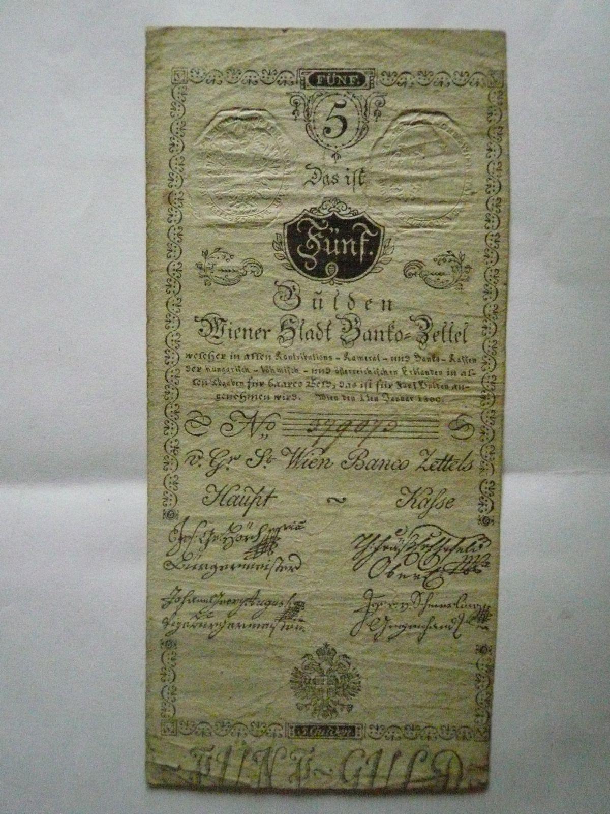 5 Gulden, Rakousko, 1800, č.299070
