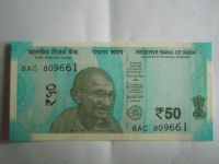 50 Rupie, Indie, 2017, Gándhí