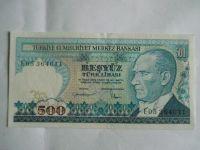 500 Lirasi, Turecko,, 1970