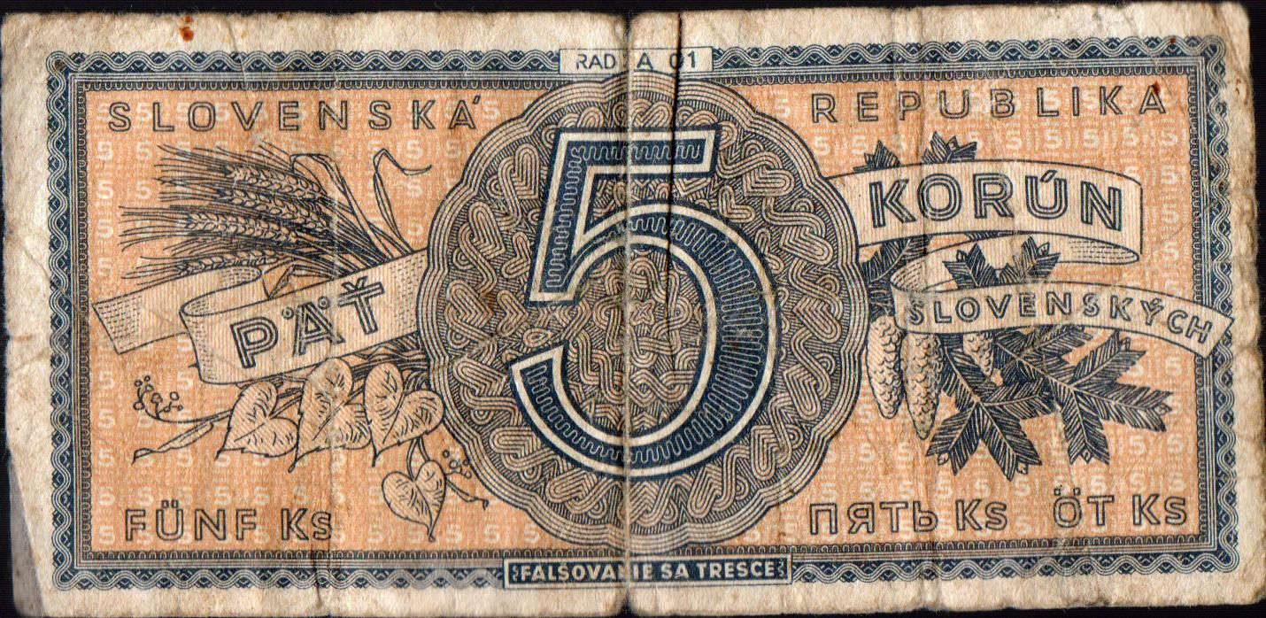 5Ks/1945/, stav 4, série A 001 !!!