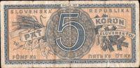5Ks/1945/, stav 3-, série A 001 !!!
