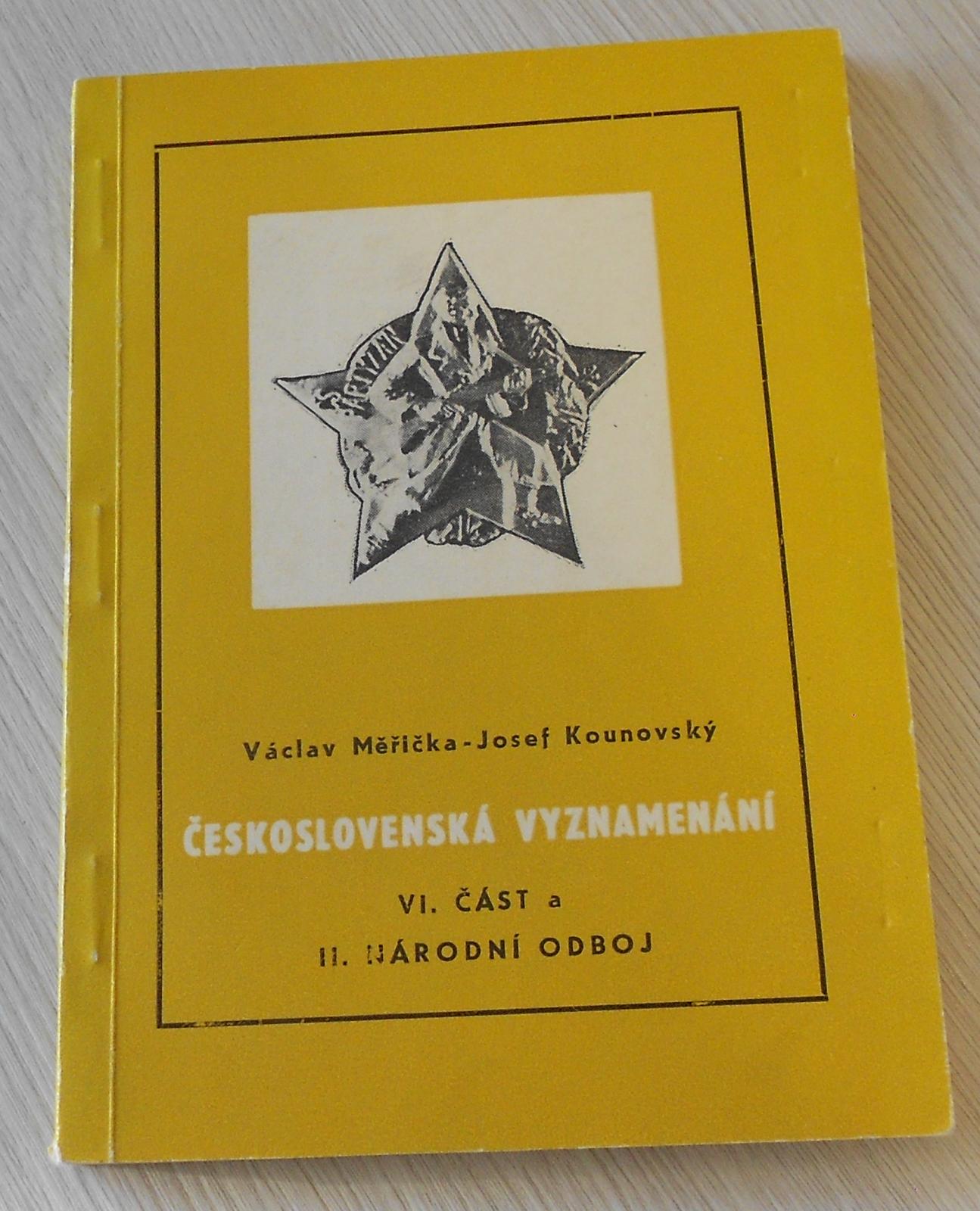 Čs. vyznamenání VI. část a