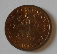 ČSR 10 Haléř 1923 stav