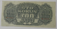 ČSR 100 Koruna HT 1944 poukázka