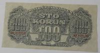 ČSR 100 Koruna K4 1944 poukázka
