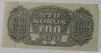 ČSR 100 Koruna KX 1944 perfor.
