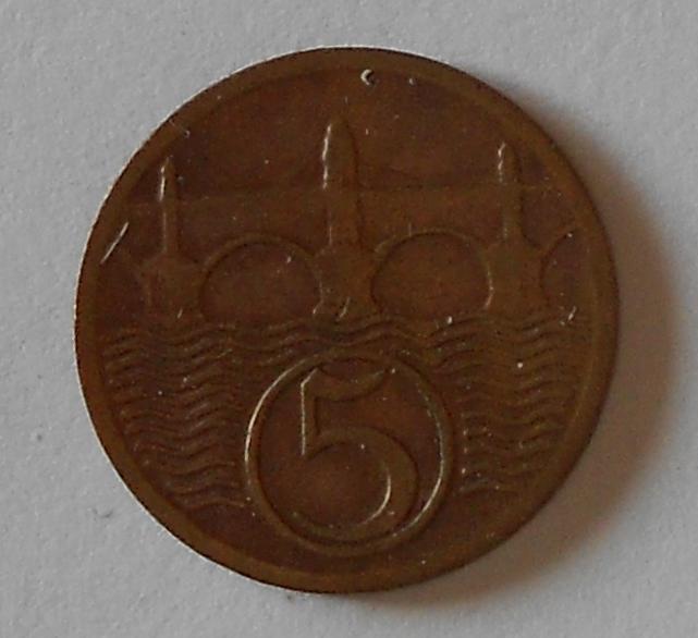 ČSR 5 Haléř 1930